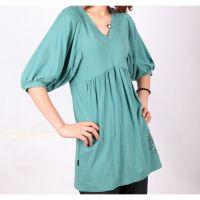 Sell Blue Women Medium Sleeves T-shirts H