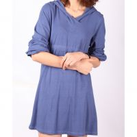 Sell 100% cotton long sleeves dark blue skirts R