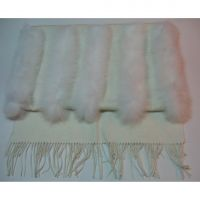Sell 2013 100% cashmere long white  winter shawl & blanket  1254