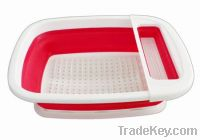 """Sell 20"""" TPR Plastic Collapsible Dish Tray-Save Space, Eco-friendly"""