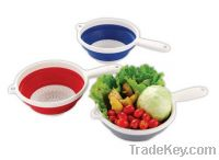 """Sell Dia 8"""" Foldable Colander W/ Handle"""