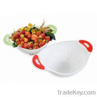 Sell Plastic Colander Set of 2 with TPR Handle