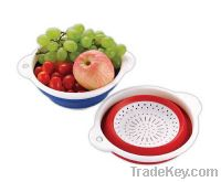 """Sell 12"""" TPR Plastic Square Folding Colander-Customized Color"""