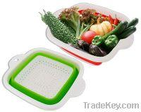 """Sell 10"""" TPR Square Folding Colander/Basket- New Design"""