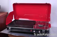 Portable Propane Stove & Grill Combo, 1 Burner, With Grill