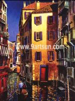 Landscape Oil Painting - Street Scenery