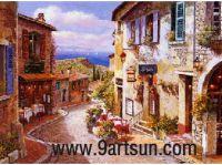 Landscape Oil Painting - Street Scenery-0123
