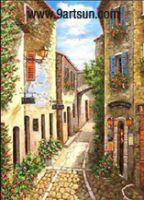 Landscape Oil Painting - Street Scenery-K748