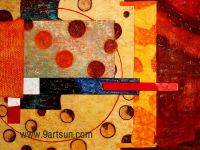 Handmade Abstract Oil Painting on Canvas-e058