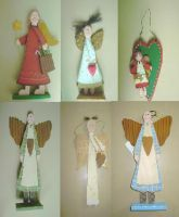 Sell Christmas decoration accessories wooden angel