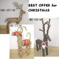 Sell H Rattan Reindeer with lights