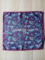 polyester handkerchief, pocket square, square scarf