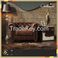 Elegant Office Room Antique Leather Chair