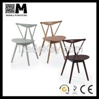 Hans solid wood modern wood dining chair MKW030