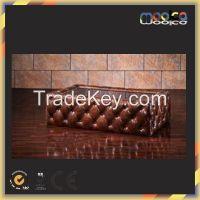 aviator vintage leather wood storage coffee table