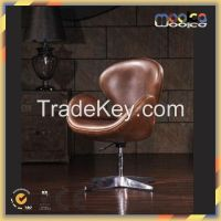 2015 Hot Sell Luxurious italian vintage leather antique swan chair