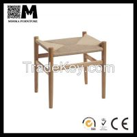 Rattan stool Hans CH53 wood Stool