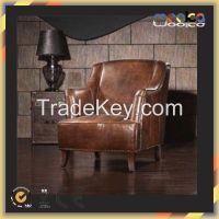 Elegant italian vintage leather antique salon chair