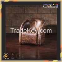 Luxurious italian vintage leather antique restaurant chairs