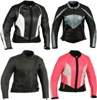 Sell Motorbike Leather Jacket Motorcycle Protection Suit for Ladies Womens