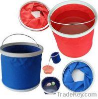 Portable folding bucket oxford fabric