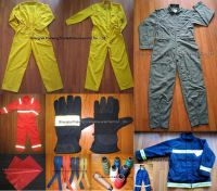 Sell nomex flight suit fire fighting suit nomex fabric thread zipper