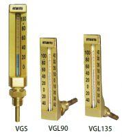 V-shape Aluminum Case Glass Thermometer #VG