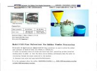 Finer Pulverizer for Rubber Powder
