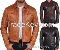 LionStar Vintage Italian Style Real Leather Jacket for Men