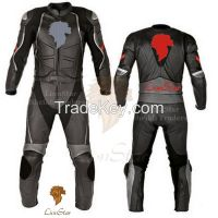 LionStar Racing Motorbike / Motorcycle Leather Suit with CE Approved Protectors