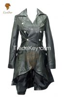 LionStar Ladies Victorian Long Leather Jacket / Coat for