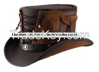 LionStar Top Quality Real Leather Cowboy Hat
