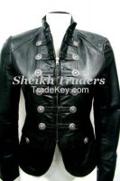 LionStar Ladies Military Style Leather Jacket