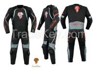 LionStar Leo Racing Motorbike / Motorcycle Leather Suit with CE Approved Protectors