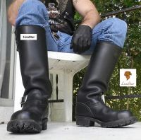 LionStar Knee High Long Real Leather Shoes / Boots for Men