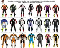 LionStar Adults/Kids Racing Motorbike / Motorcycle Leather Suits with CE Approved Protectors