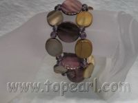 20mm coin shell bracelet