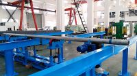 Pipe feeder (pipe loading/feeding/unloading device)  for drill pipe hardbanding machine