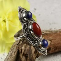 beaded-ring silver