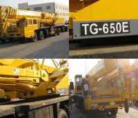 Sell TADANO TG650E jib crane, used hydraulic crane, truck mounted crane
