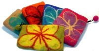 Felted Notions Purses From Nepal 100% Wool Ships from the USA