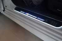 LED Moving Door Scuff Step Plate Sill Cover Trim Panel for All car brand 2pcs