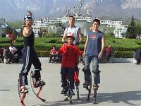 Sell power shoes/jump stilts/moon shoes/ fly jumper with CE Xmas gifts