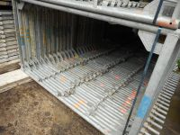 used Layher 7000 sqm wide frame 1, 09 scaffolding
