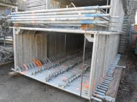 Layher Used 6000 sqm frame scaffolding 1, 09m wide