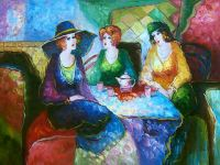 sell stock Oil Painting On Wood Panel
