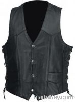 Sell leather vest for mens
