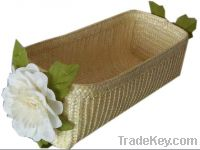 straw storage package box with flower