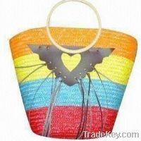 high quality straw beach bag