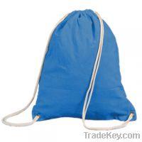 Sell blue backpack drawstring